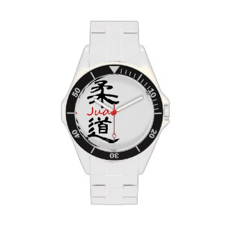 Judo Calligraphy watch 100m water resistant